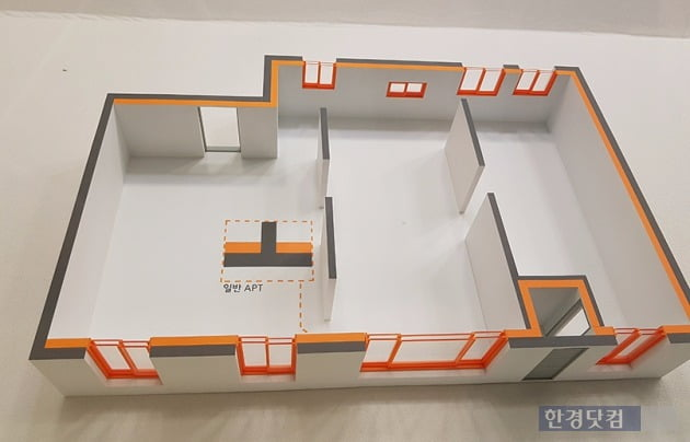 'e편한세상 추동공원 2차'에 적용되는 단열 설계 예시. 사진 전형진 기자