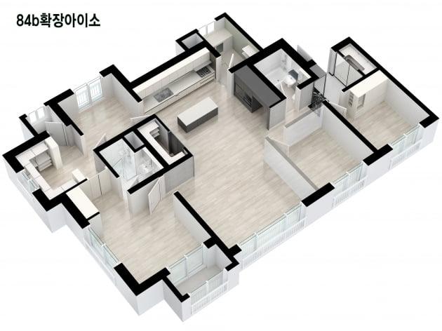'송산그린시티 금강 펜테리움 센트럴파크' 전용 84㎡B 타입. 금강주택 제공
