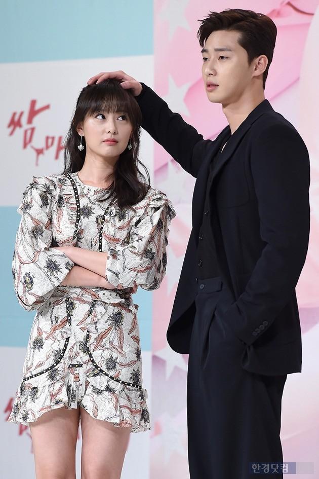 배우 김지원(왼쪽), 박서준 / 사진=변성현 기자