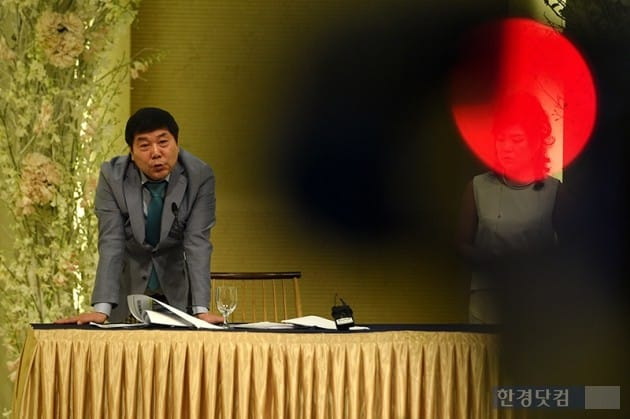 송대관 폭언 논란 홍상기 대표 기자회견 / 사진=최혁 기자