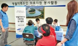 쌍용양회,의료지원 봉사활동