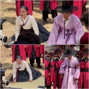 '역적' 서이숙-박은석, 무릎 꿇고 처절한 절규 '포착'