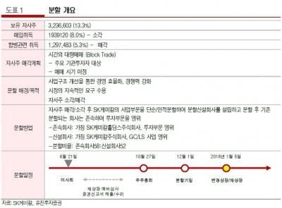 """""""SK케미칼, 지주사 분할·자사주 소각 '긍정적'…목표가↑""""-유진"""