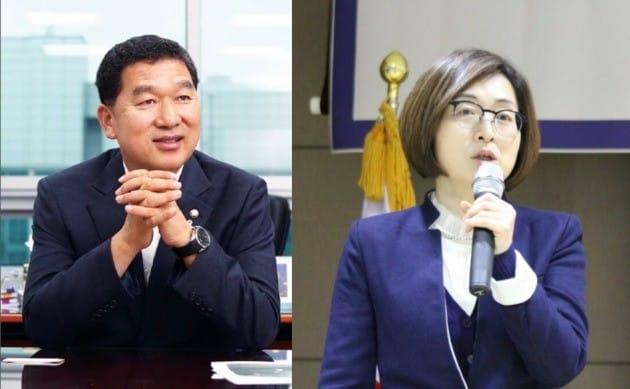 (왼쪽부터)신정훈 전 의원, 은수미 전 의원. 사진출처=공식 페이스북