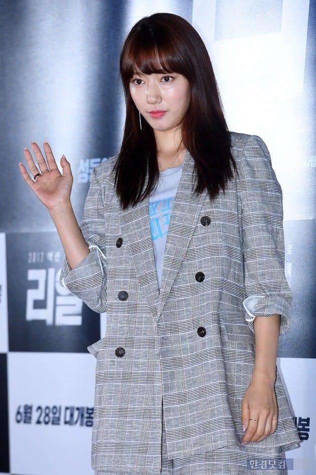 박신혜, '아빠옷 입고왔어요~'