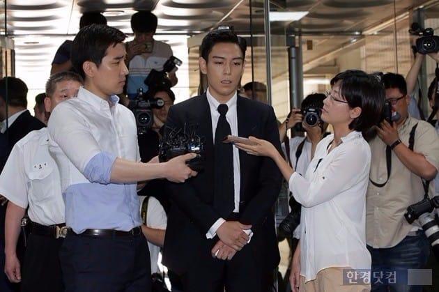 탑 징역 10월 집행유예 2년 구형