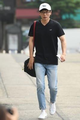 유재석, '편한 복장으로 해투 가는 길~'