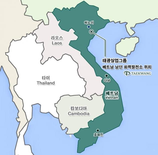 베트남 남딘 화력발전소 위치도.