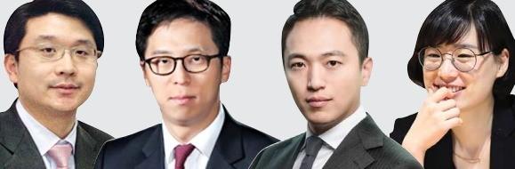 (왼쪽부터) 정도현 대표,, 이진하 전무, 김현승 상무, 김유진 대표