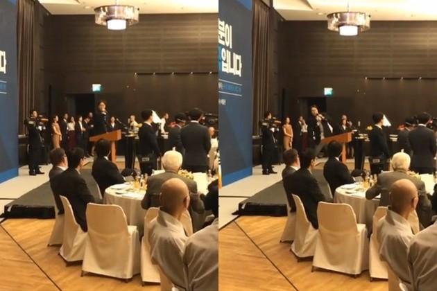 김영철 문재인 대통령 참석 독일 간담회 진행 /사진=인스타그램