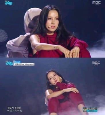 '쇼음악중심' 이효리의 '서울-Black' 무대, 몽환적 분위기 속 카리스마