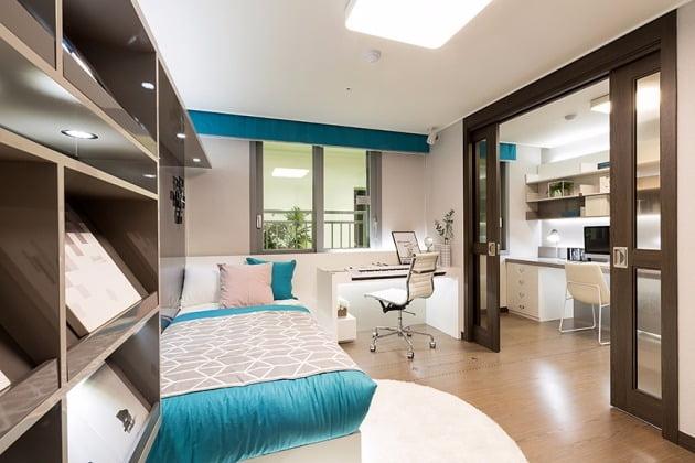전용 99㎡ 보조침실의 '룸인룸'. 포스코건설 제공