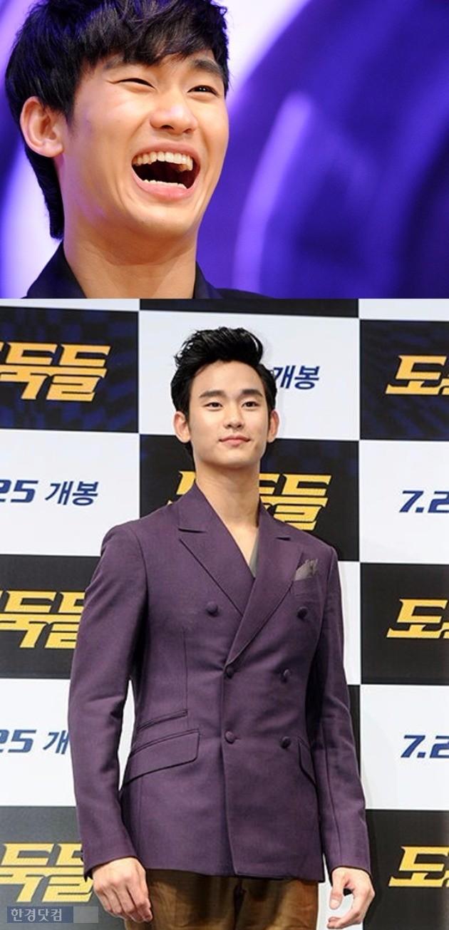 영화 '은밀하게 위대하게', '도둑들' 제작발표회에 참석한 김수현 /사진=한경DB