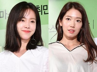 '자체 반사판女' 한지민·박신혜, 자연미인 톱2