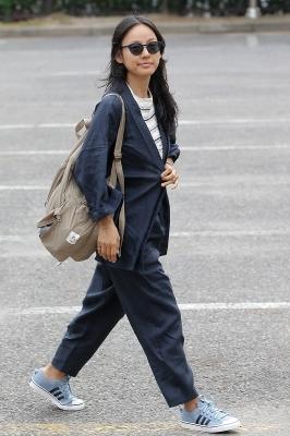 이효리, '오늘도 개량한복 출근길'
