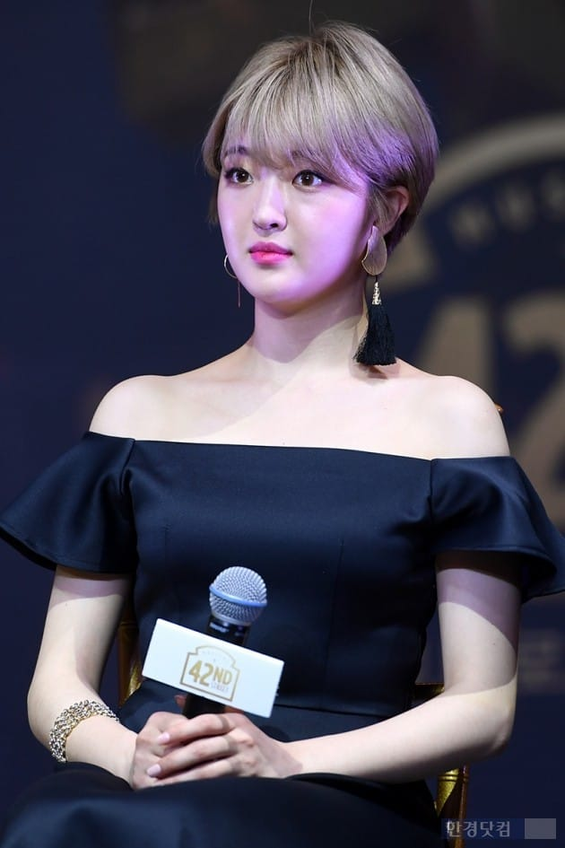 뮤지컬 '브로드웨이 42번가' 제작발표회, 배우 전예지 / 사진=최혁 기자