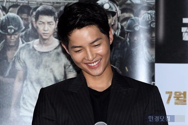 송중기, '송혜교 질문에 번지는 미소'