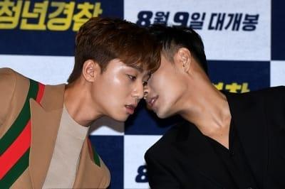 박서준-강하늘, '밀착 대화'