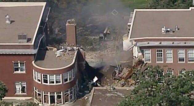 미국 미네소타주 초등학교 가스폭발 사고 현장. / 사진=CNN 캡쳐