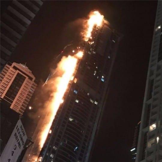토치 타워 화재. 트위터 캡처