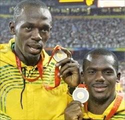 은퇴를 선언한 우사인 볼트(왼쪽)가 2017 런던 세계육상선수권대회 100m에서 3위를 기록했다. 한경DB.