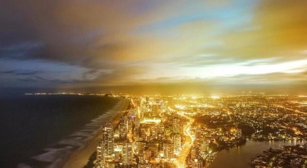 호주 골든코스트 야경 사진