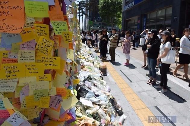 지난해 묻지마 살인사건이 일어났던 강남역 주변 현장. / 사진=한경DB