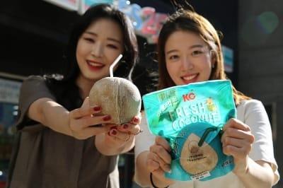 편의점에서 코코넛 마신다…GS25, 마시는 생코코넛 출시