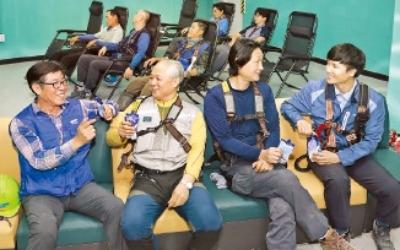 삼성물산의 '근로자 사랑'…쿨 라운지 설치