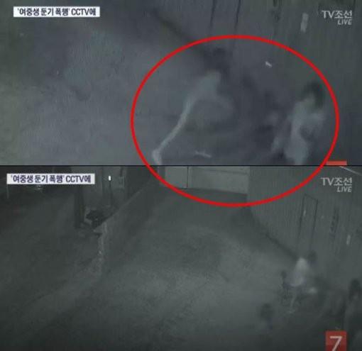 부산 여중생 폭행 사건 CCTV /TV조선