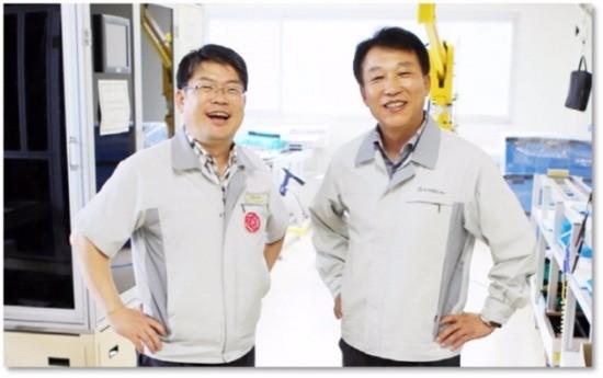 (왼쪽부터)황만용 대표이사, 김기린 대표이사.