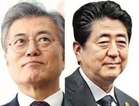 문재인 대통령(왼쪽)과 아베 신조 일본 총리. / 사진=한경 DB