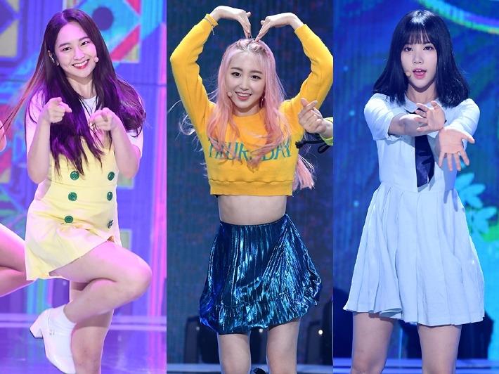 걸그룹 멤버들, 무대 위 애교 폭발 '녹는다'