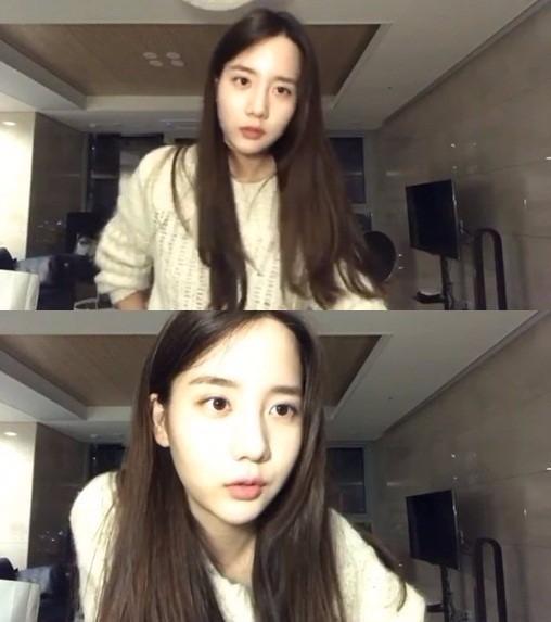 내년 데뷔를 앞두고 있는 가수 연습생 한서희. / 사진=한서희 인스타그램