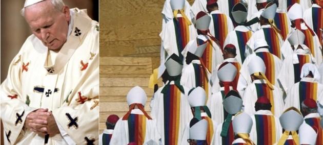 까스텔바쟉이 제작한 교황 요한 바오로 2세의 사제복, 추기경들을 위한 미사복(사진: 까스텔바쟉)
