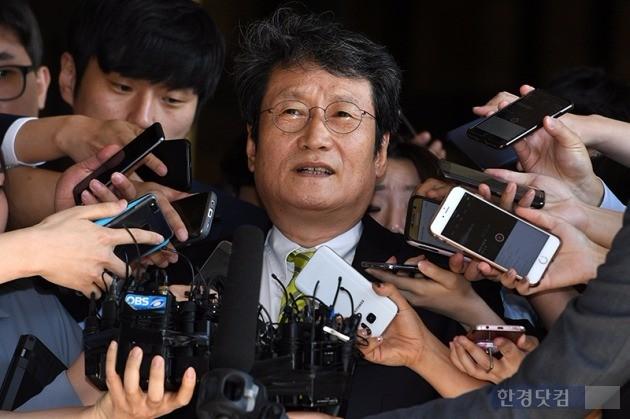 문성근 MB 블랙리스트 사건 검찰 출석  / 사진=최혁 기자