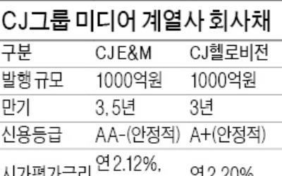 자금조달 속도내는 CJ그룹 계열사들