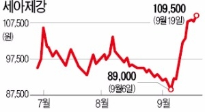 '독야청청주'… 농심·세아제강·신세계건설, 업황 부진 속 나홀로 강세