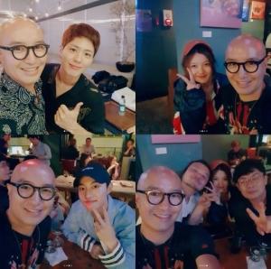 홍석천, '구르미' 1주년 파티서 박보검·김유정과 찰칵