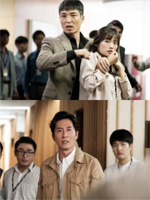 '아르곤' 천우희, 의문의 남성에게 위협... 김주혁과 절박한 눈빛교환