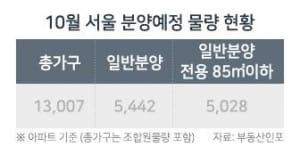 강화된 청약제도… 10월 서울 분양물량 92% '가점제' 적용