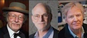 왼쪽부터 제프리 홀 브랜다이스대 교수, 마이클 로스바시 교수, 마이클 영 전 록펠러대 교수. 노벨상위원회 홈페이지 캡처
