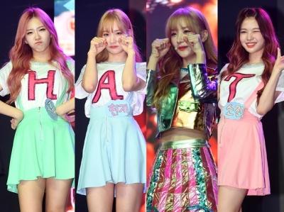 해시태그, 갓 데뷔한 걸그룹 애교 보실래요?