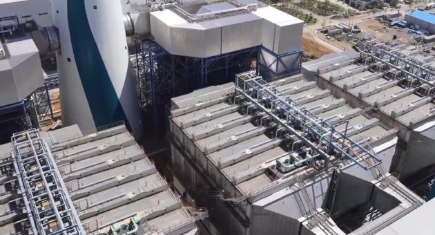 태안화력발전소에 설치된 전기집진 시설. 비디아이 제공