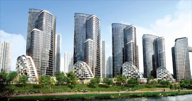 보이스 홈 서비스, 홈로봇 서비스 등이 제공될 예정인 현대건설의 '반포 디에이치 클래스트(반포주공 1단지 1·2·4주구 재건축)' 투시도
