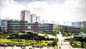 중국 청두시 텐푸신도시 내 소프트웨어 파크