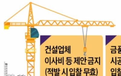 재건축 수주 '전(錢)의 전쟁' 막는다