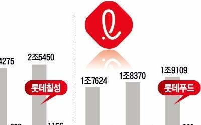롯데지주 '함박웃음'… 4개 사업회사는 '울상'