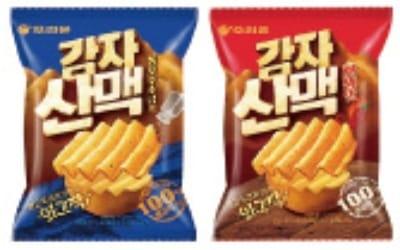 오리온, Z자형 커팅 감자칩 '감자산맥' 출시