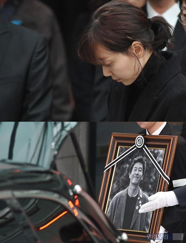 '故 김주혁 발인' 이유영